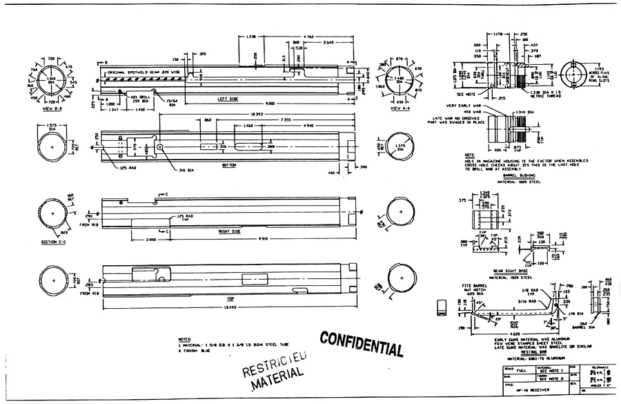 Mp40 blueprints mg 42 receiver construction plan pictures