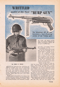 Whittled model of the nazi Burp gun 1