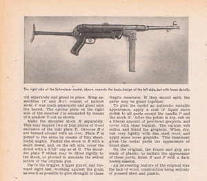 Whittled model of the nazi Burp gun 2