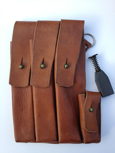 A Norwegian MP40 left pouch (front) including Norwegain magazin loader