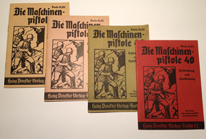 Civilian MP40 Manuals published by Heinz Denckler in several color variations