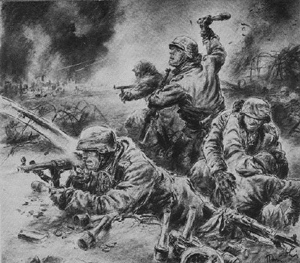 Heroic Stalingrad drawing of soldiers