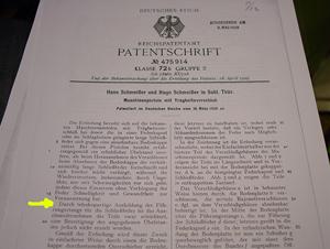 Patentschrift 475914