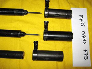 Bolts; MP38 (top), MP40 (middle), FPB (Post war Portuguese)
