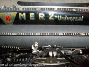 Merz werke Logo on typewriter