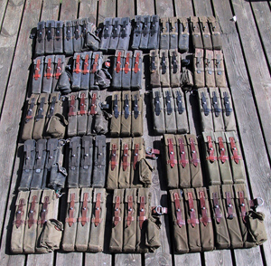 Nice collection of MP40 pouches